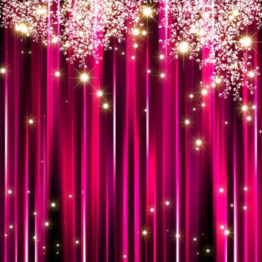 Sparkling star on pink magenta background