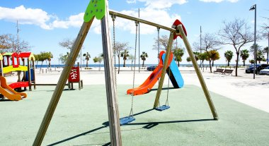 Swings in a Children's playground