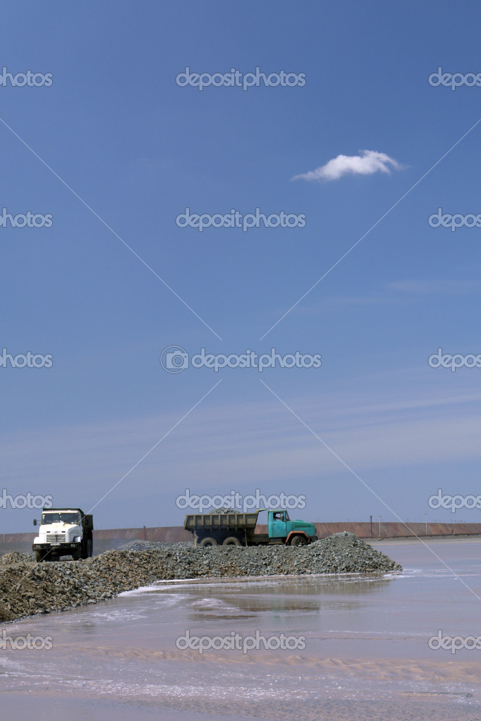 Cars on a background of the sky