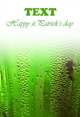 Green lucky beer background border