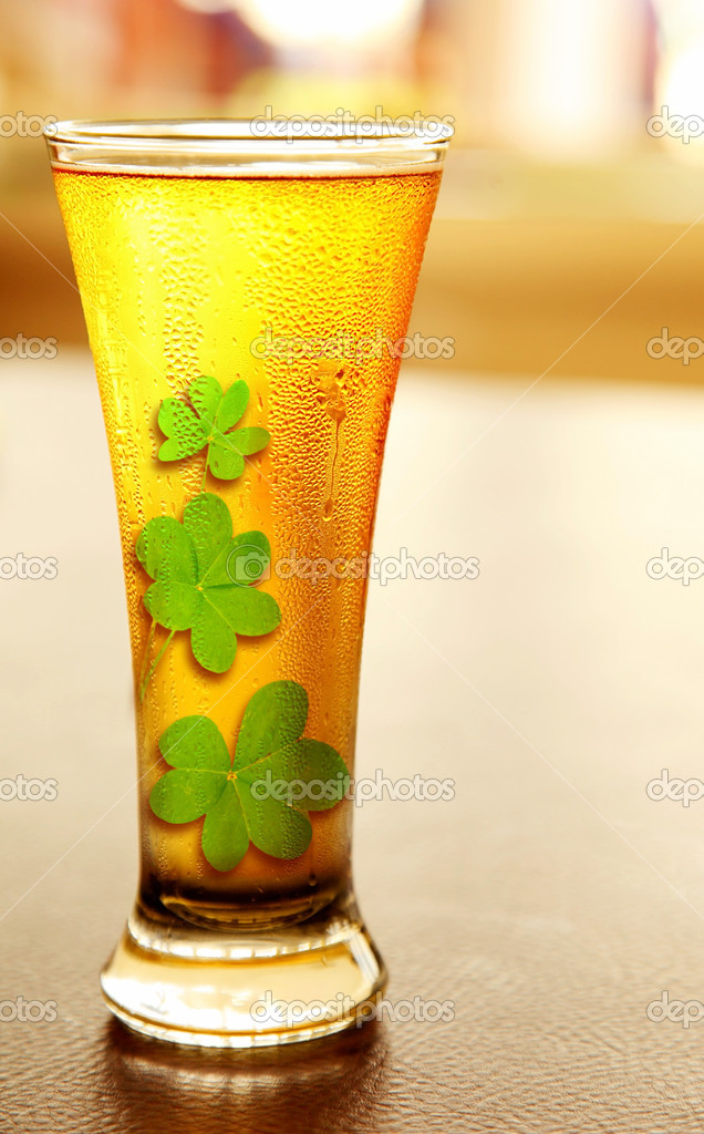 Cold lucky beer