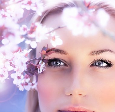 Sensual portrait of a spring woman