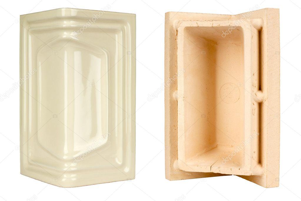 Mattonelle di ceramica di angolo per la costruzione di caminetti e