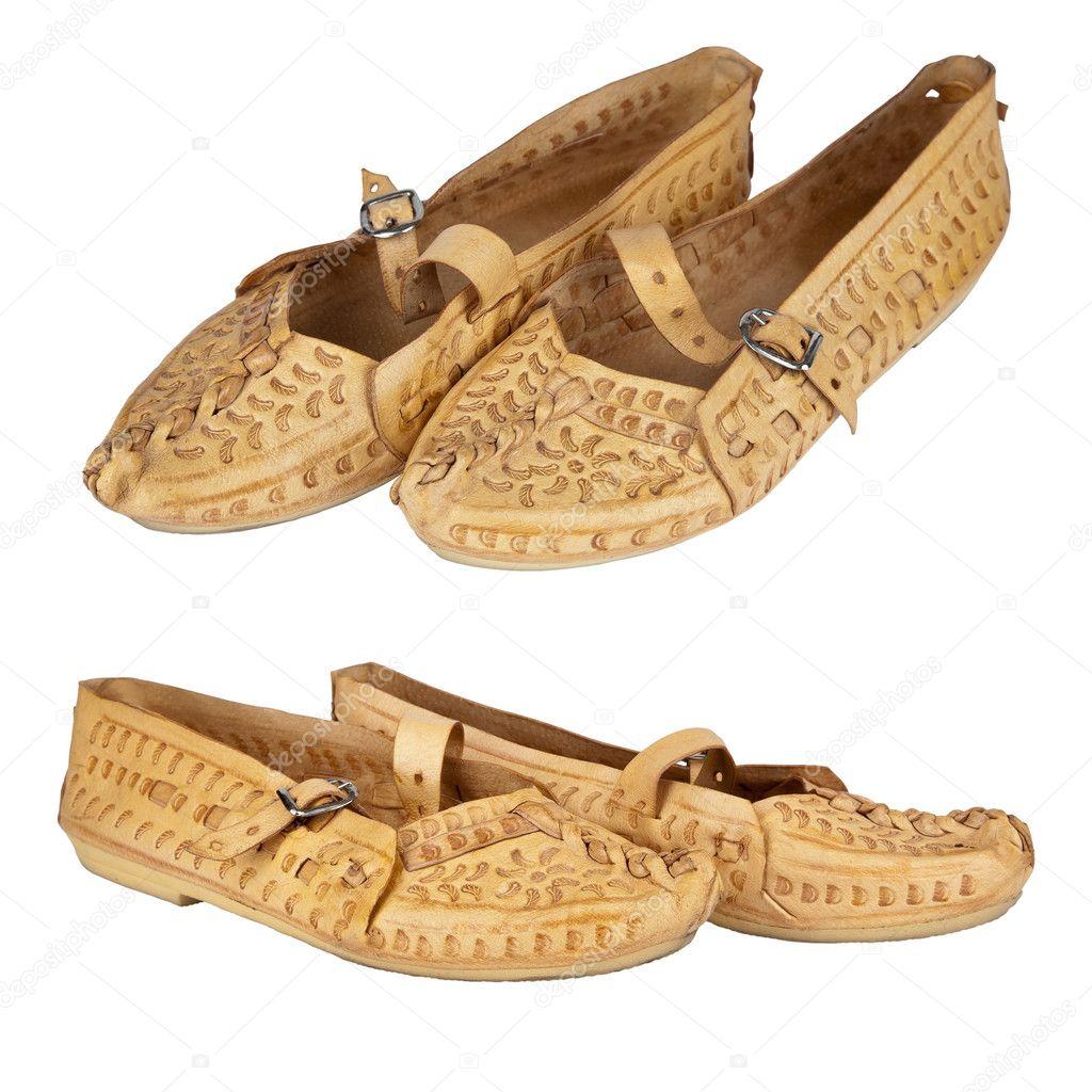 980d53651a854 Takie buty skórzane są często noszone przez górali polskich — Zdjęcie  stockowe