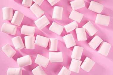 Candy pink marshmallow sweets pattern texture