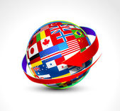 Fotografie World flags sphere