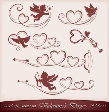 Icons for Valentine's Day. Vector illustration clip art vector