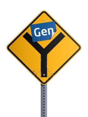 Gen Y roadsign