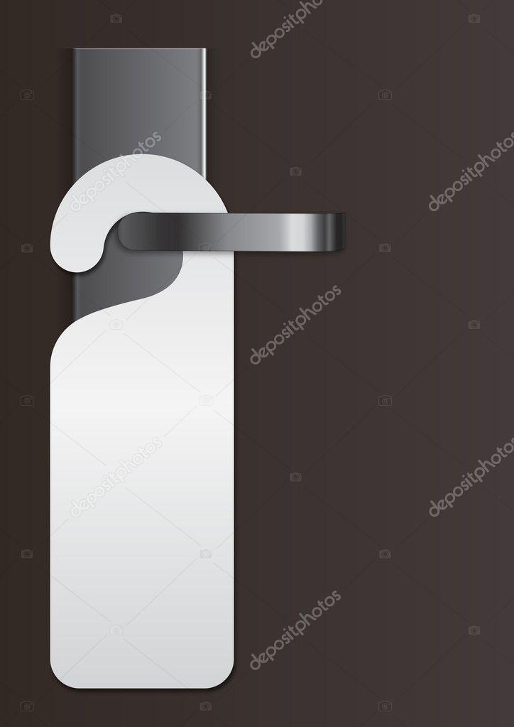 Door handle with virgin label