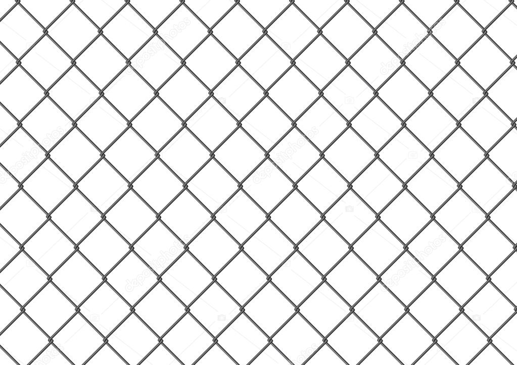 isolated chain link fence — stock vector © thomaspajot #9674894