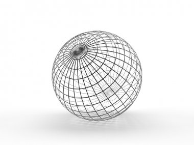 Sphere. Thin wireframe