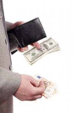Money in the hands of