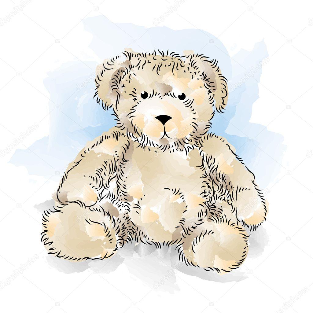 Dessin ours en peluche illustration vectorielle de couleur image vectorielle mirumur 9697277 - Dessin ours en peluche ...
