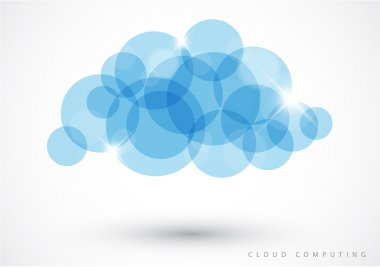 Cloud computing - vector illustration