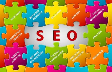 SEO Vector puzzle background