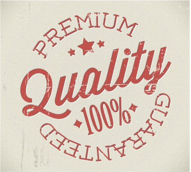 Vector retro premium quality stamp