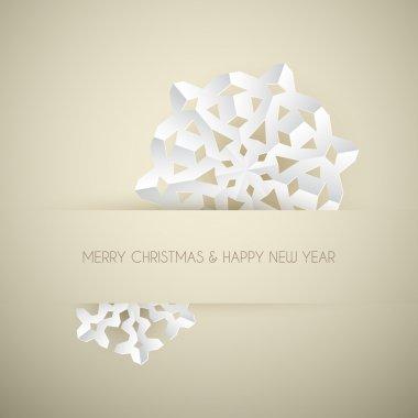 Vector white paper christmas snowflake