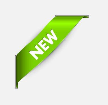 Green corner ribbon for a new item