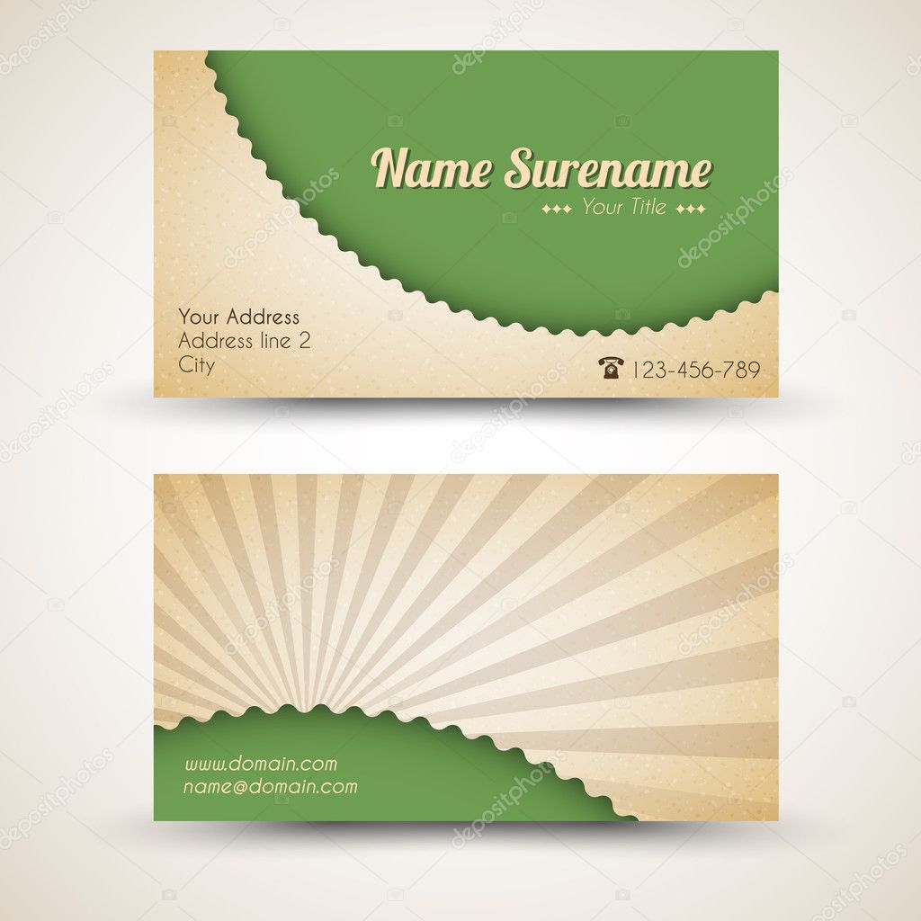 Vector old-style retro vintage business card — Stock Vector © orson ...