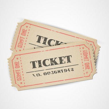 Vector vintage tickets
