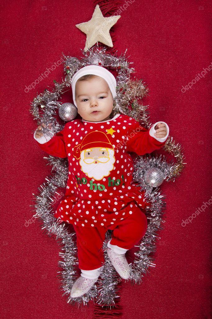 21bf2ab65 Navidad para bebés recién nacidos — Foto de stock © membio  9000141