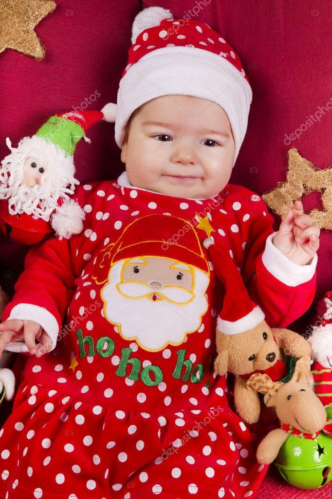e3d3e50aa Navidad para bebés recién nacidos — Foto de stock © membio  9000494