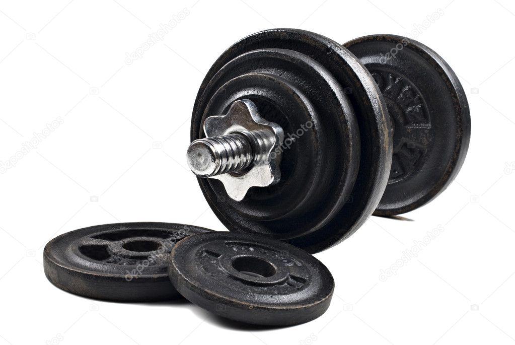 hantlar med lösa vikter