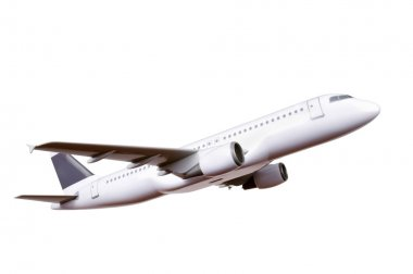 Commercial plane model isolated on white background stock vector