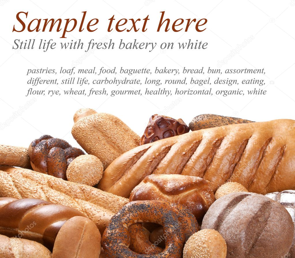 Bakery on foreground with sample text