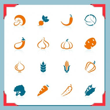 Vegetable icons | In a frame series