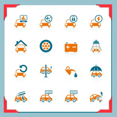 Car service icons | In a frame series