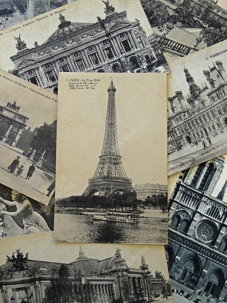 Днем рождения, привет из парижа открытка