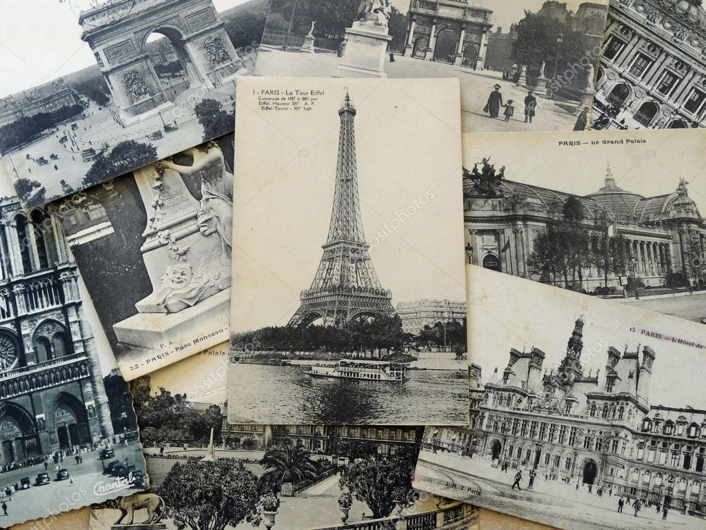 Черно белые почтовые открытки, днем полиции