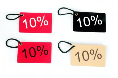 Four types of ten percent paper tag