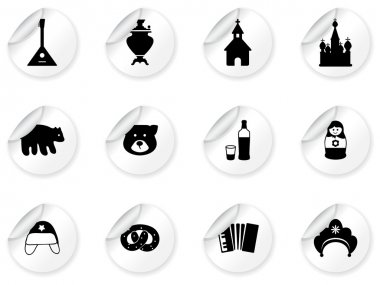 Stickers with russian icons