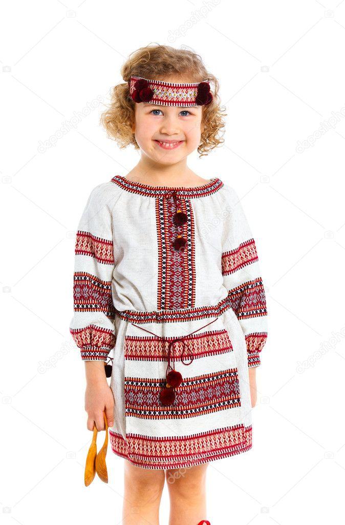 99f4057818 Kislány az ukrán nemzeti viselet — Stock Fotó © mac_sim #9850291