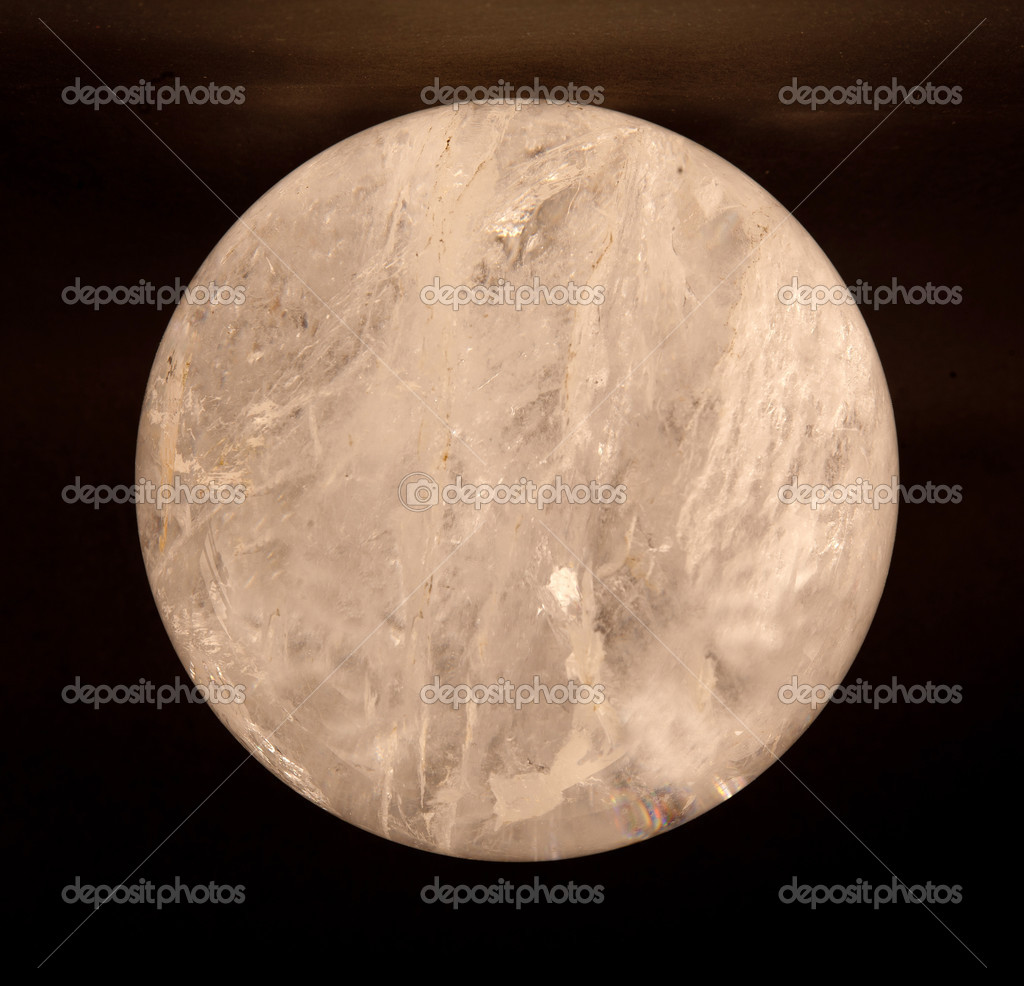 Transparent crystal ball