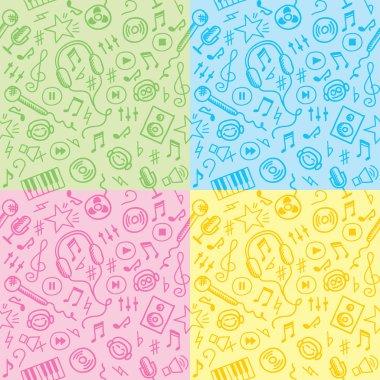 Seamless patterns with music symbols