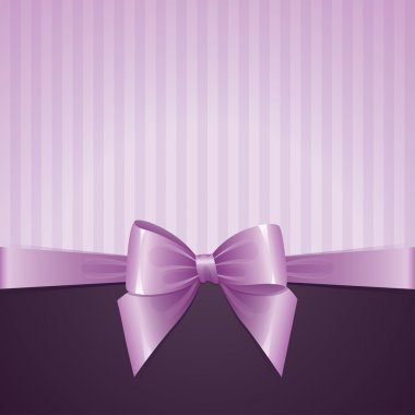 Violet background with bow