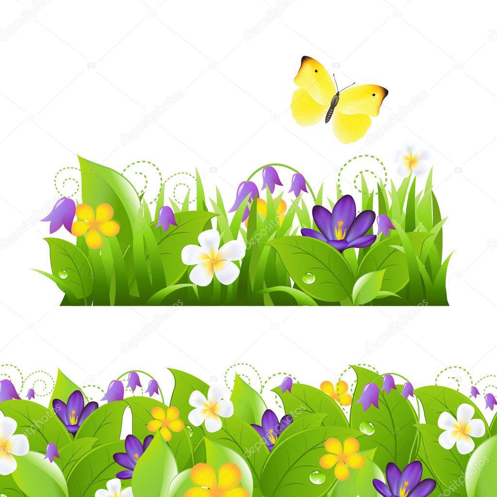Flowers Borders Set
