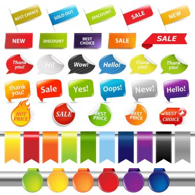 Set Of Sale Stickers And Labels