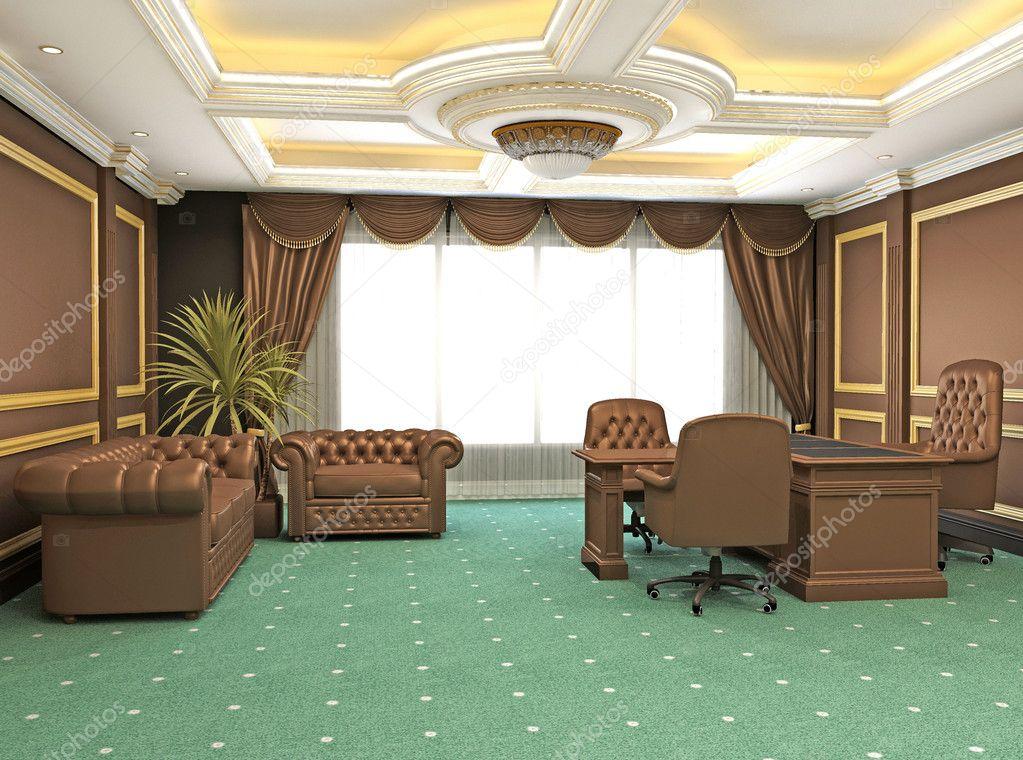 Espace de bureau moderne classique appartement intérieur