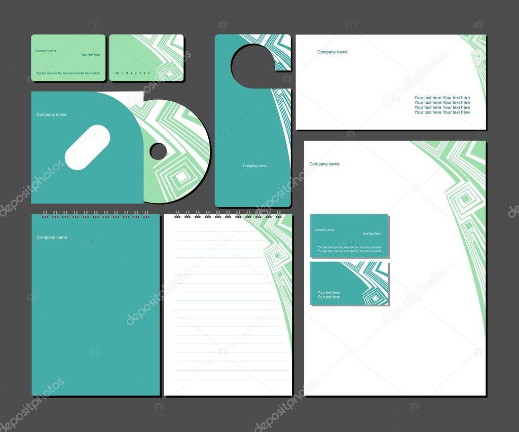 plantillas de estilo empresarial. ilustración vectorial — Vector de ...