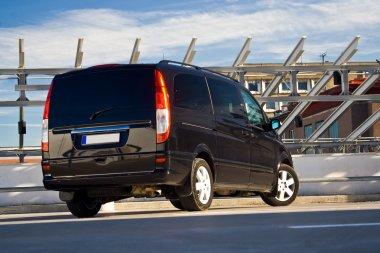 Black minivan