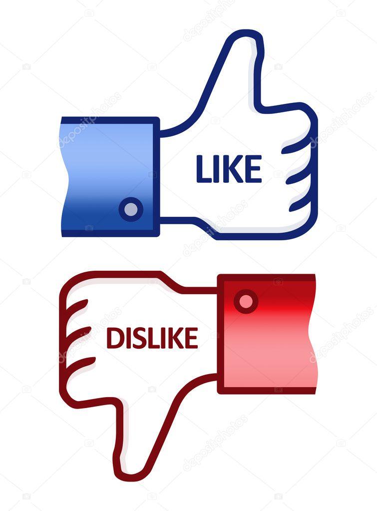 Thumb Up Like Dislike Symbol Stock Photo Bloomua 8677400