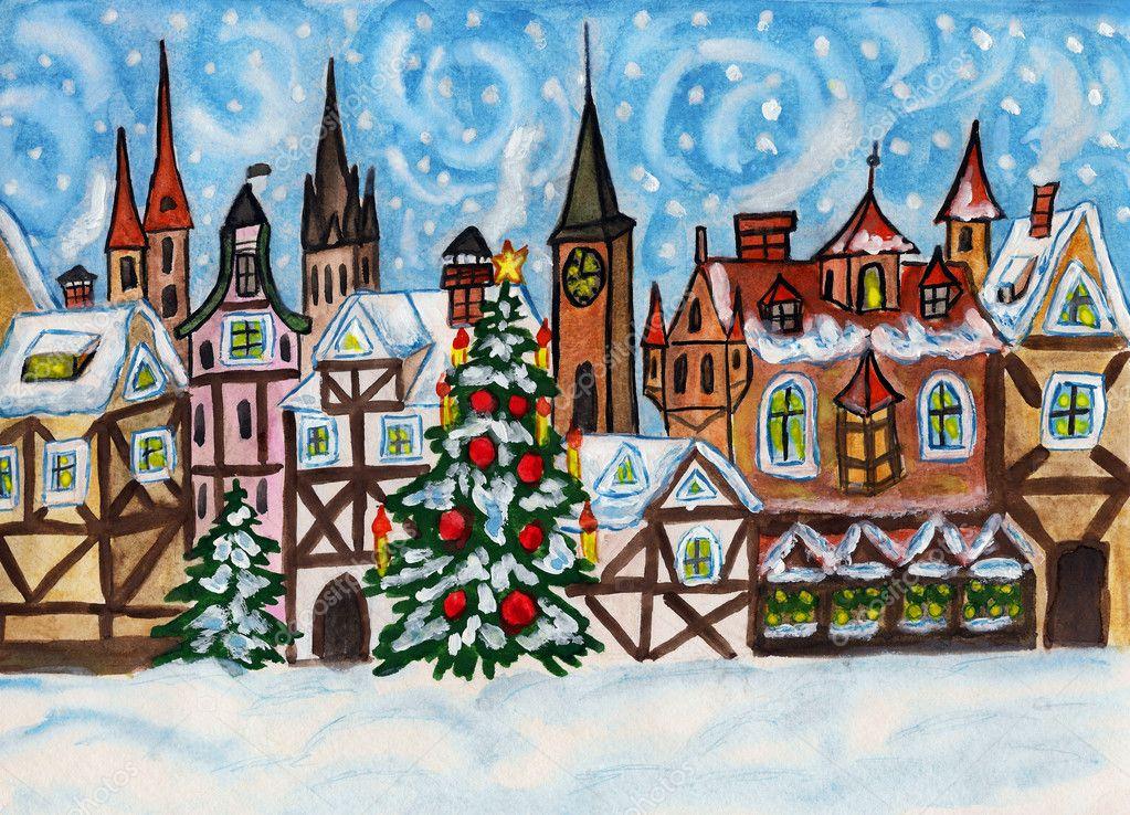Для мужа, рождество в германии картинки нарисованные