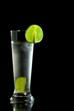 Fresh cold drink with lime