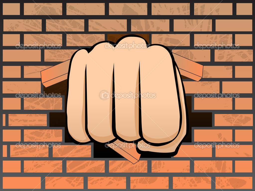 casser un mur de brique image vectorielle bgmgigi 8949055. Black Bedroom Furniture Sets. Home Design Ideas