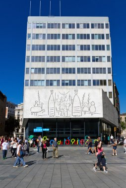 Pablo Picasso's frize in Barcelona Spain