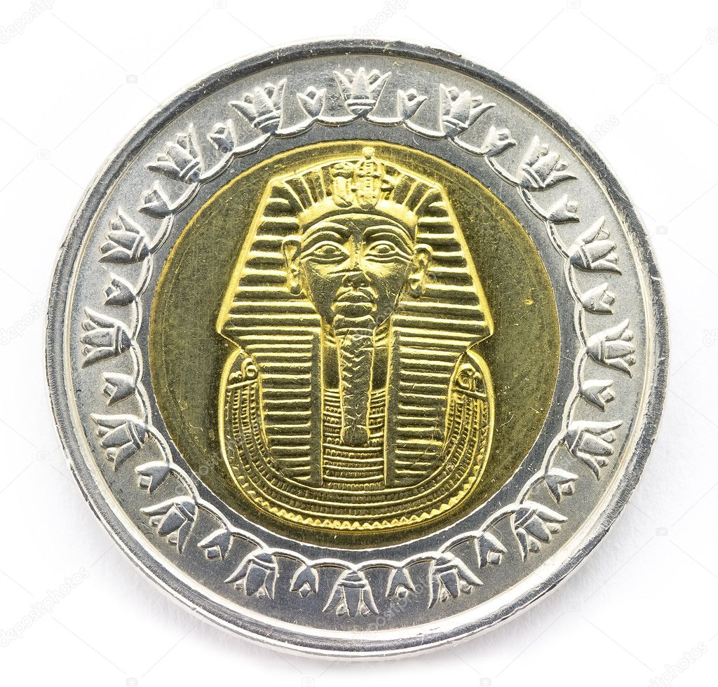 Egyptian coin stock photo karsol 9985518 arab republic of egypt the coin of 1 pound shows the pharaoh tutankhamen photo by karsol biocorpaavc Images